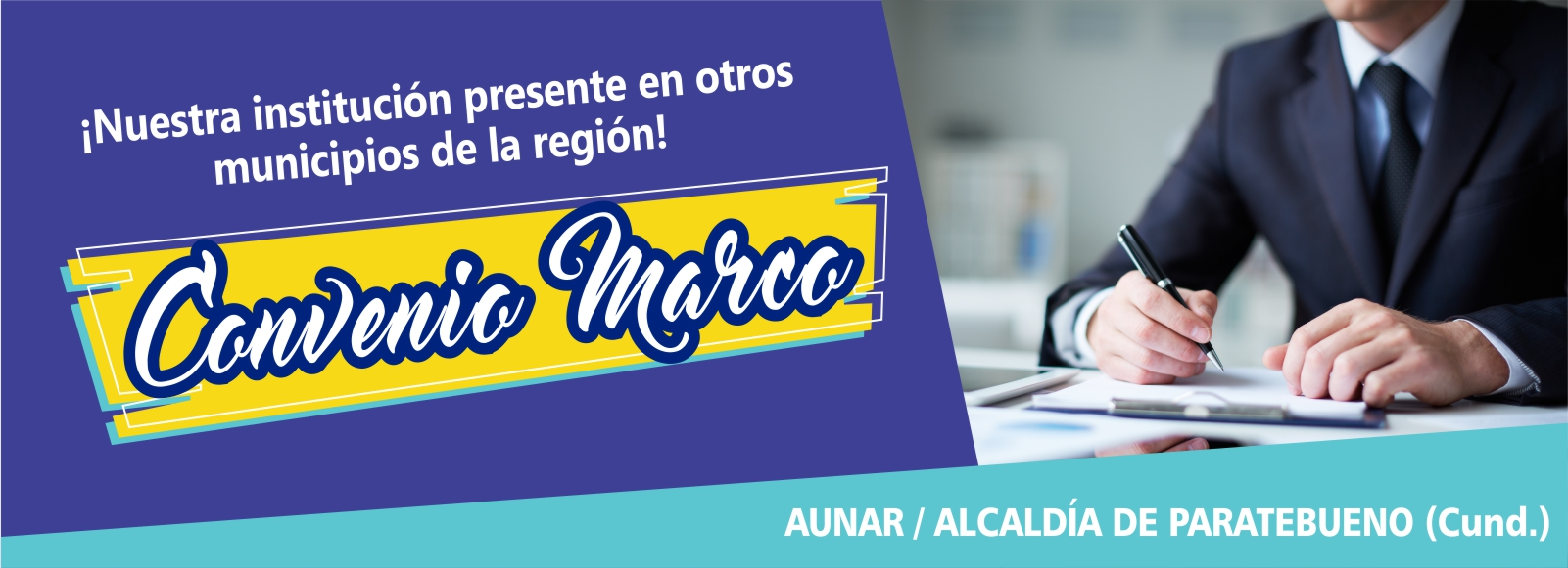 Nuevo convenio marco: Alcaldía de Paratebueno (Cundinamarca) con la AUNAR Villavicencio.